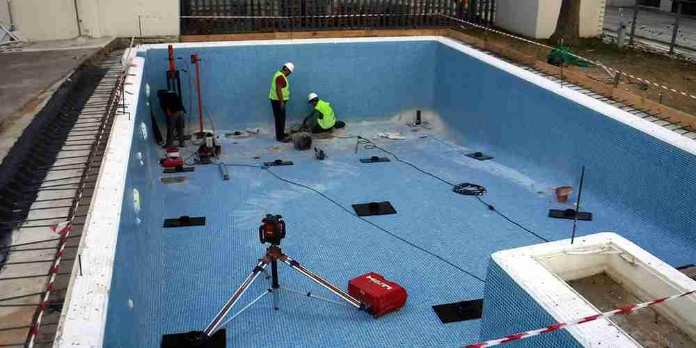 Recalce de piscinas con micropilotes de hinca